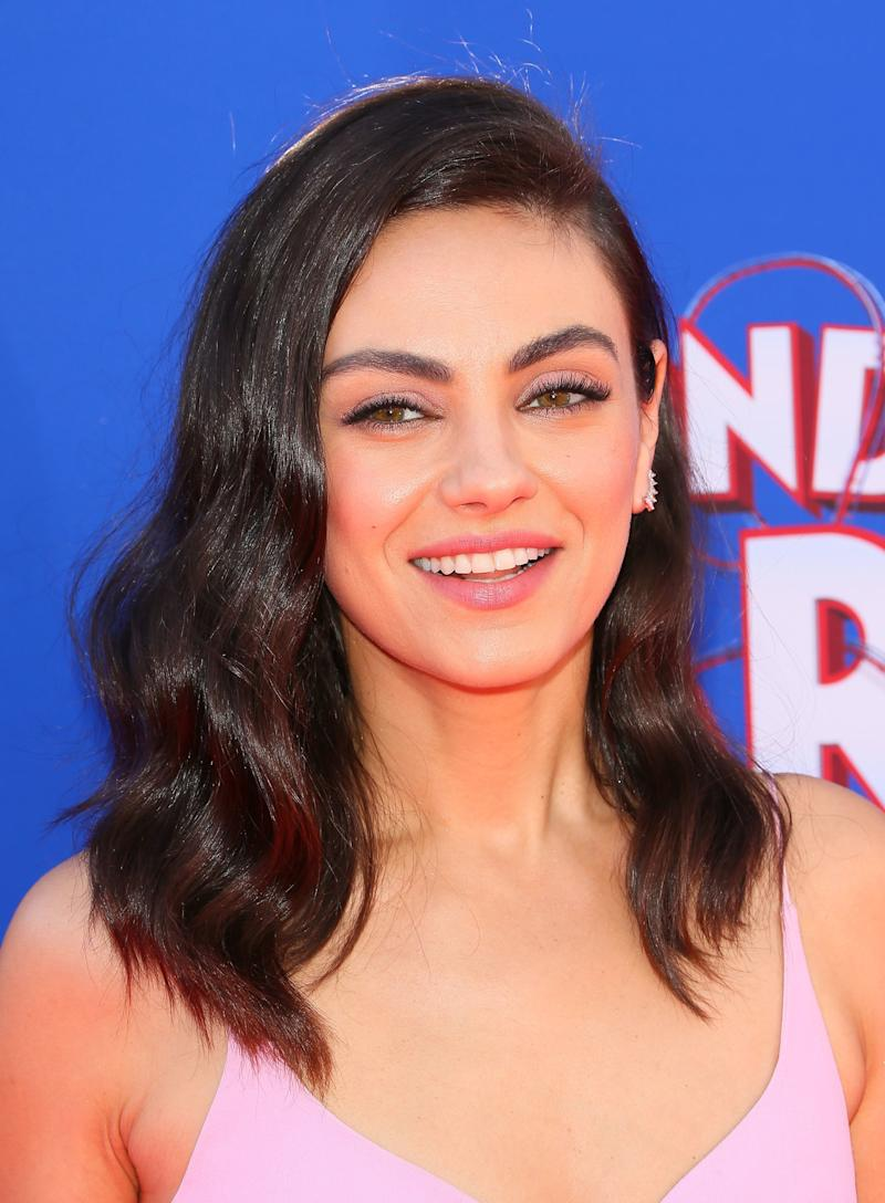 Mila Kunis Is Completely UnrecognizableWith Blonde and Blue Hair