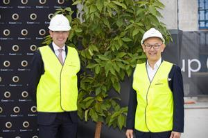 NSW Treasurer Dominic Perottet and Crown Group CEO Iwan Sunito