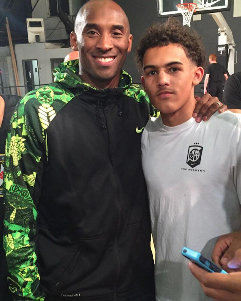 Kobe Bryant and Trae Young | Trae Young/Instagram