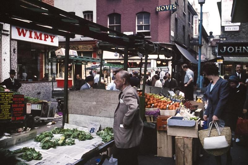 Berwick Street Market in Soho in June 1966. (Richard Friedman)