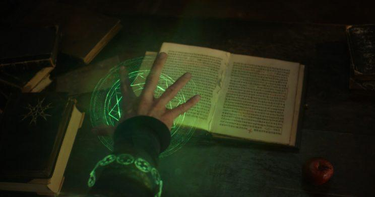 Strange attempts to reconstruct the pages Kaecilius ripped from the Book of Cagliostro