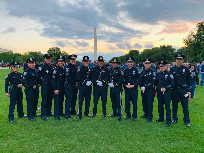 Beverly Hills Police officers observing National Police Week in Washington last year.
