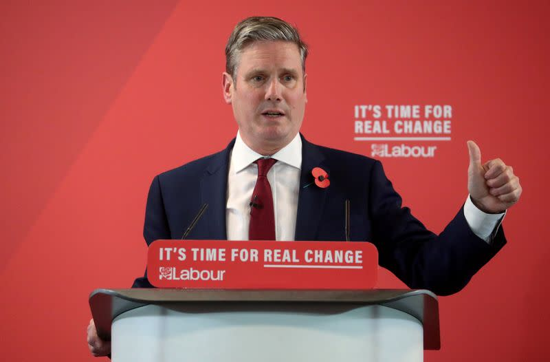 Labour Party Brexit spokesman Starmer ahead in leadership race - poll