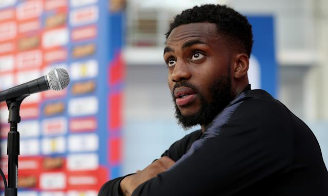 Danny Rose at the England team media day.