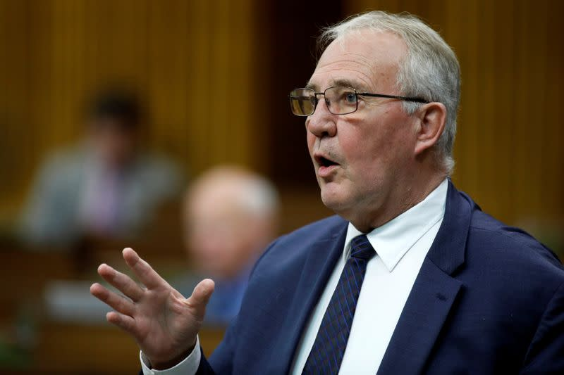 Canada's Minister of Public Safety and Emergency Preparedness Bill Blair speaks during a meeting of the special committee on the COVID-19 pandemic in the House of Commons on Parliament Hill in Ottawa