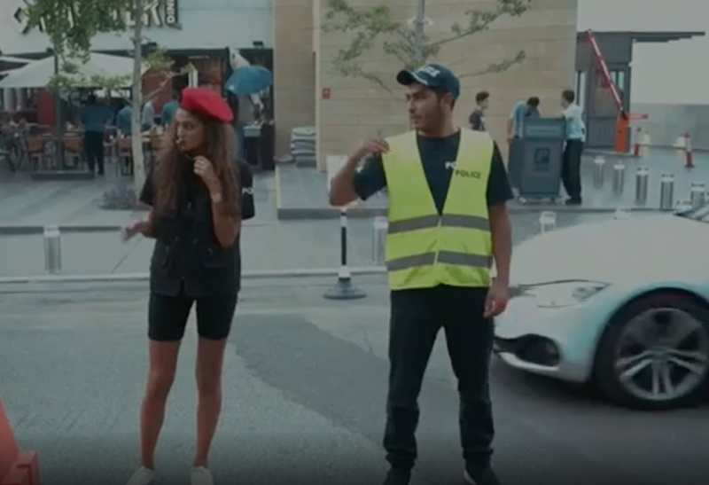 Many people have pointed out the shorts policy is discriminatory because men are not also expected to get their legs out at work: YouTube/BBC