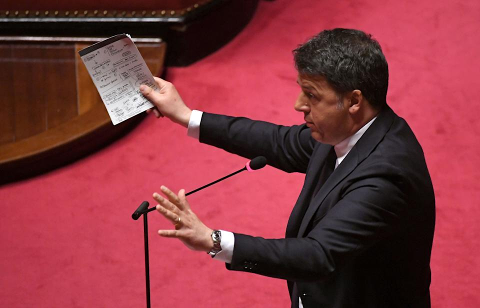 Senator and former Italian prime minister Matteo Renzi speaks in the Senate, the upper house of parliament, on the spread of coronavirus disease (COVID-19), in Rome, Italy, March 26, 2020 REUTERS/Alberto Lingria (Photo: Alberto Lingria / Reuters)