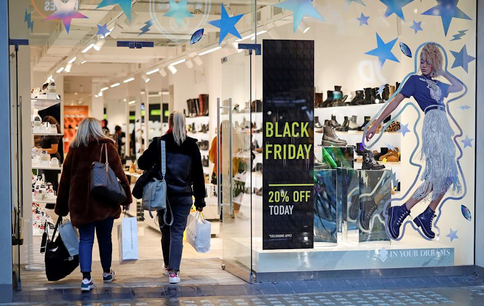 <p>Physical stores remained shuttered as consumers shopped online for Black Friday this year </p>AFP via Getty Images