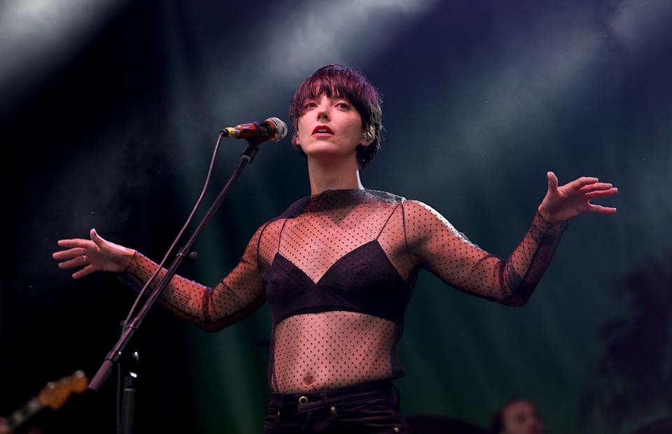 Sharon Van Etten performs onstage during Ohana Fest at Doheny State Beach on September 26, 2021 in Dana Point, California. - Credit: Karl Walter for Variety