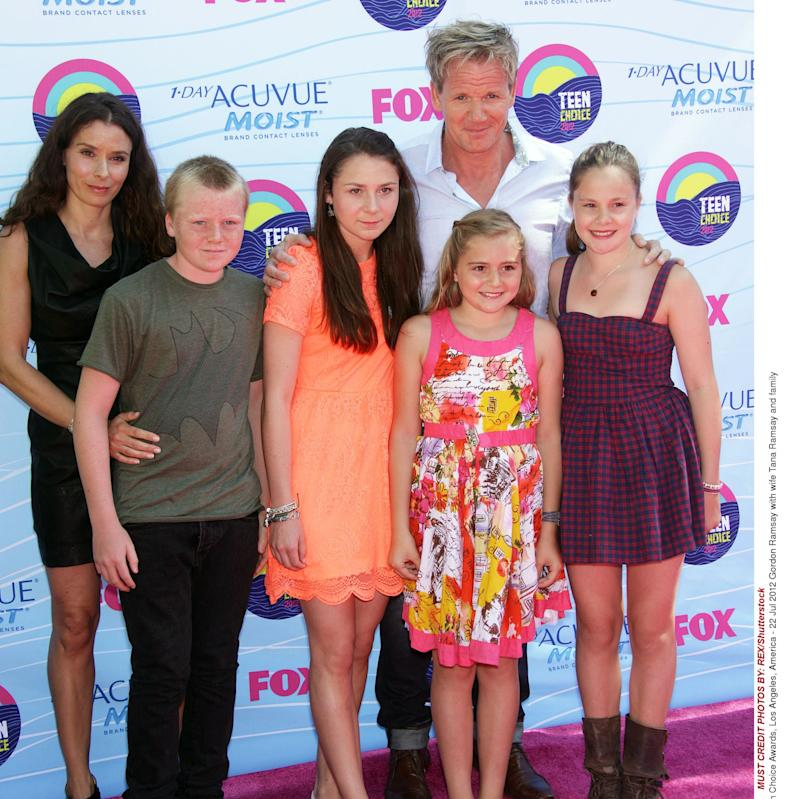 Gordon Ramsay with wife Tana Ramsay and family 2012 Teen Choice Awards, Los Angeles - Credit: REX/Shutterstock