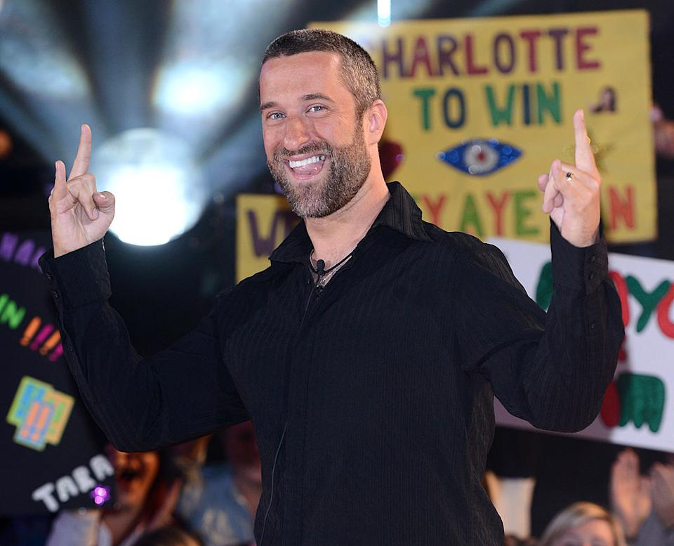 Dustin Diamond leaving Celebrity Big Brother in September 2013. (Getty Images)