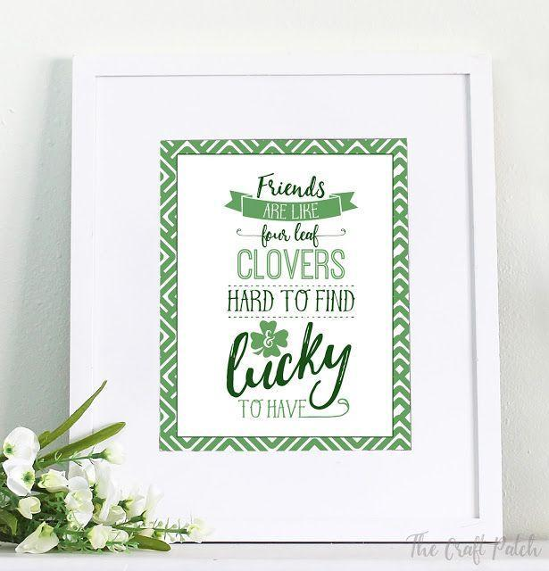 """<p>Hang up this sweet message if you're throwing a St. Patrick's Day party with friends to remind them how lucky they make you feel.</p><p><strong>Get the tutorial at <a href=""""https://www.thecraftpatchblog.com/stpatricksdayfreeprintable/"""" rel=""""nofollow noopener"""" target=""""_blank"""" data-ylk=""""slk:The Craft Patch"""" class=""""link rapid-noclick-resp"""">The Craft Patch</a>.</strong></p><p><strong><strong><a class=""""link rapid-noclick-resp"""" href=""""https://www.amazon.com/Neenah-Cardstock-Heavy-Weight-Brightness-91437/dp/B07D4YF3K4/?tag=syn-yahoo-20&ascsubtag=%5Bartid%7C10050.g.4036%5Bsrc%7Cyahoo-us"""" rel=""""nofollow noopener"""" target=""""_blank"""" data-ylk=""""slk:SHOP CARD STOCK"""">SHOP CARD STOCK</a></strong><br></strong></p>"""
