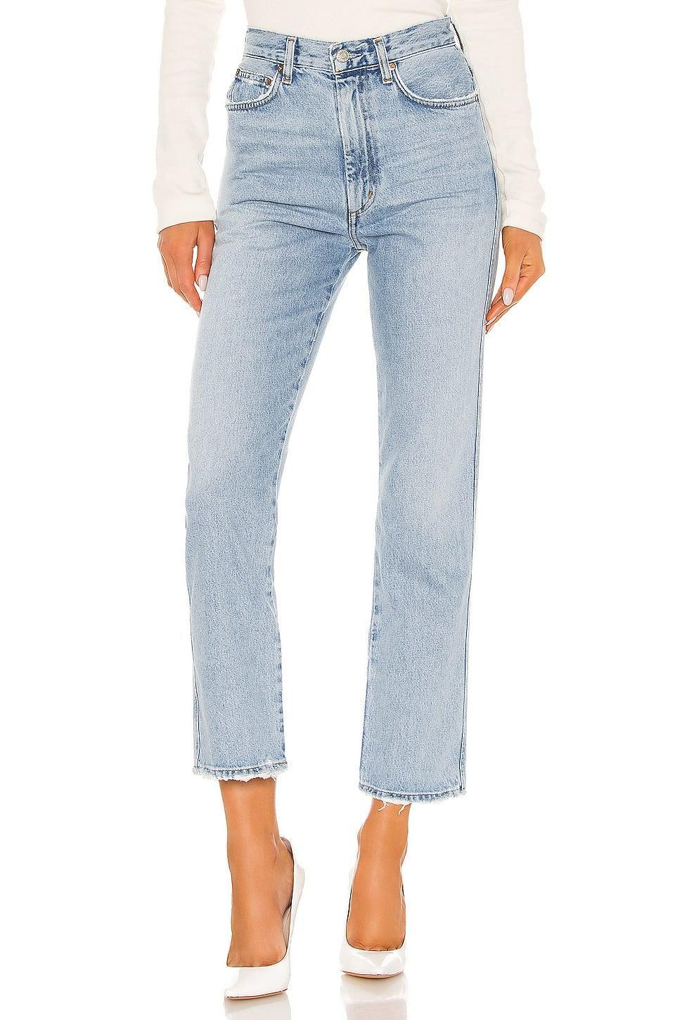 <p>These <span>Agolde Pinch Waist High Rise Kick</span> ($178) jeans are an editor favorite; they're so flattering.</p>