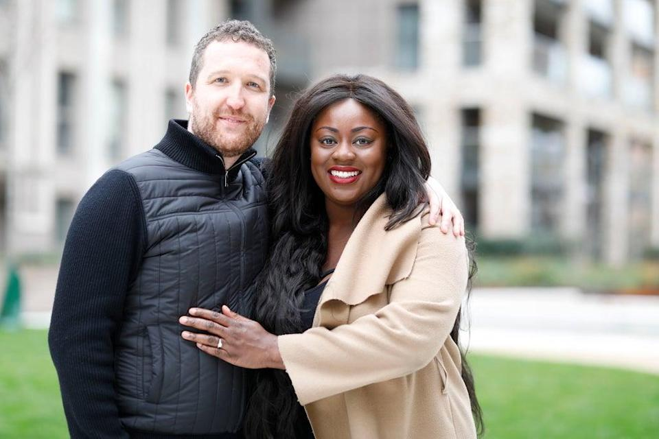 Paul Blakely and Victoria Sampson bought a four-bedroom flat at the Upton Gardens development using Help-to-Buy (handout)