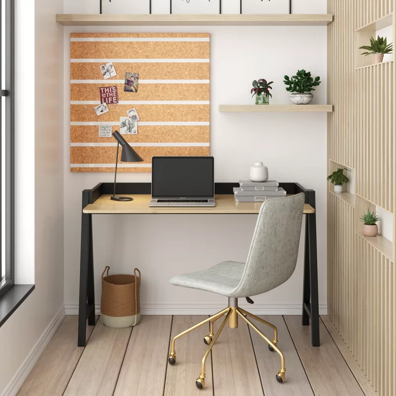 """<h2>Cale Task Chair</h2><br><strong>Best For: Restless Sitters </strong><br>This streamlined and armless desk chair features an adjustable seat, and a swivel base with gold finished legs. <br><br><strong>The Hype:</strong> 4.5 out of 5 stars and 49 reviews on <a href=""""https://www.allmodern.com/furniture/pdp/cale-task-chair-a001172335.html"""" rel=""""nofollow noopener"""" target=""""_blank"""" data-ylk=""""slk:AllModern"""" class=""""link rapid-noclick-resp"""">AllModern</a><br><br><strong>Comfy Butts Say: </strong>""""This chair is exactly as I hoped! The wheels work well, the gold legs are a nice shade of gold, and the upholstery is comfortable and looks great. I like to switch positions as I'm working (e.g. feet up, cross-legged, etc), which the shape of this chair accommodates beautifully. Very happy so far with this purchase. :)""""<br><br><br><br><strong>AllModern</strong> Cale Task Chair, $, available at <a href=""""https://go.skimresources.com/?id=30283X879131&url=https%3A%2F%2Fwww.allmodern.com%2Ffurniture%2Fpdp%2Fcale-task-chair-a001172335.html"""" rel=""""nofollow noopener"""" target=""""_blank"""" data-ylk=""""slk:AllModern"""" class=""""link rapid-noclick-resp"""">AllModern</a>"""