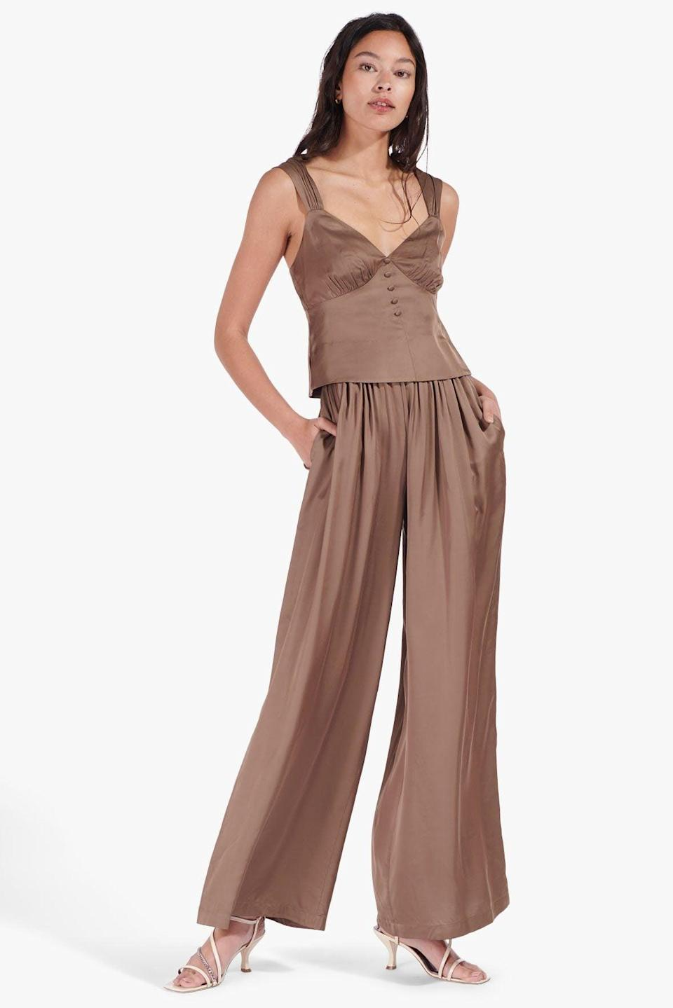<p>The <span>Astor Pants</span> ($245) will stand out no matter what you pair them with, but take a cue from the brand's styling, and wear them with the matching Tati Top.</p>