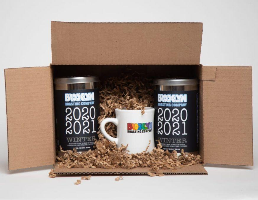 """<p>brooklynroasting.com</p><p><strong>$40.00</strong></p><p><a href=""""https://brooklynroasting.com/shop/winter-gift-set/"""" rel=""""nofollow noopener"""" target=""""_blank"""" data-ylk=""""slk:Shop Now"""" class=""""link rapid-noclick-resp"""">Shop Now</a></p><p>Caffeine lovers will be delighted to find some tins from Brooklyn Roasting Coffee in their stockings this year. The seasonal Winter Blend is especially smooth, and you can even get it in a set with their iconic diner mug. </p>"""