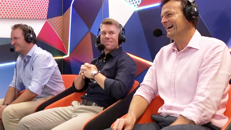 Mark Waugh, David Warner and Adam Gilchrist, pictured here in commentary.