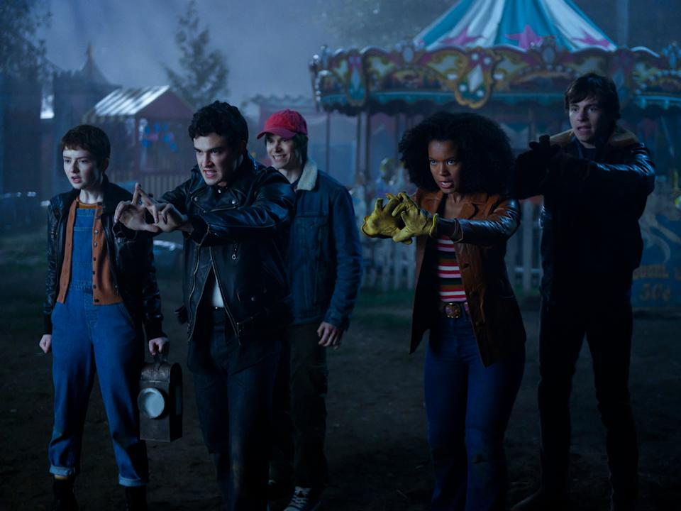 Lachlan Watson, Gavin Leatherwood, Jonathan Whitesell, Jaz Sinclair, and Ross Lynch in part four of 'Chilling Adventures of Sabrina'Diyah Pera/Netflix