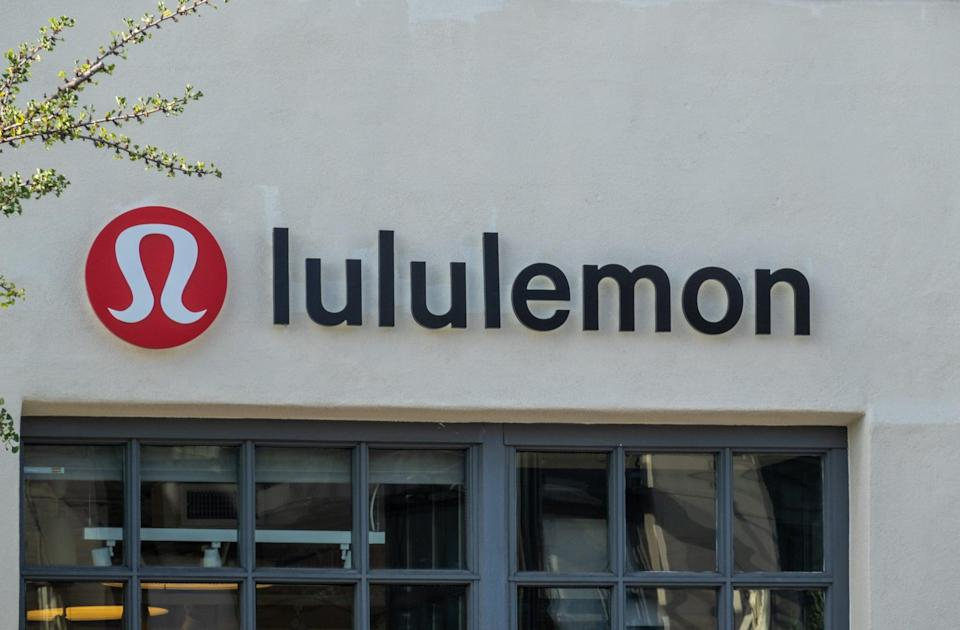 PASADENA, CA - MAY 22: Exterior view of Lululemon signage is seen on May 22, 2021 in Pasadena, California.  (Photo by RBL/Bauer-Griffin/GC Images)