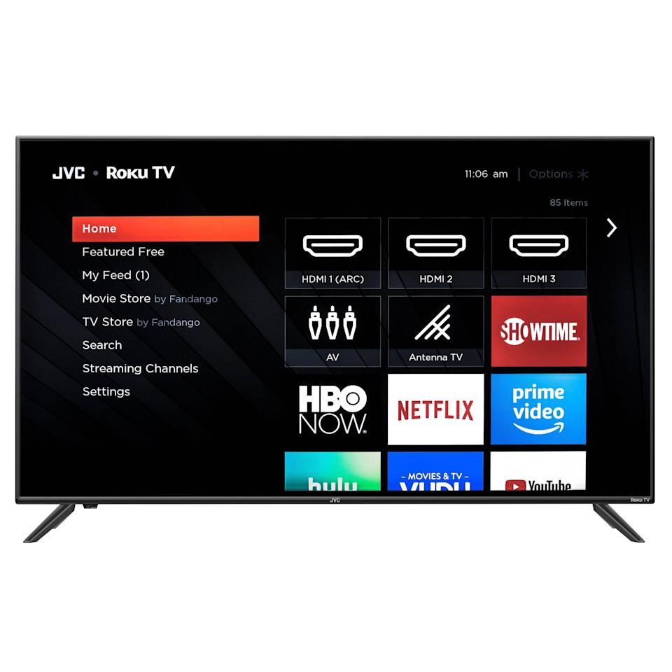 """<p><strong>JVC</strong></p><p>walmart.com</p><p><a href=""""https://go.redirectingat.com?id=74968X1596630&url=https%3A%2F%2Fwww.walmart.com%2Fip%2F832008708&sref=https%3A%2F%2Fwww.countryliving.com%2Fshopping%2Fg34360785%2Fwalmart-amazon-prime-day-big-save-deals-2020%2F"""" rel=""""nofollow noopener"""" target=""""_blank"""" data-ylk=""""slk:Shop Now"""" class=""""link rapid-noclick-resp"""">Shop Now</a></p><p><strong><del>$399</del> $248 (37.8% off)</strong></p><p>Now that sports are finally back, you're gonna need a high-definition TV to catch all the highlights. </p><p><strong>RELATED</strong>: <a href=""""https://www.goodhousekeeping.com/electronics/g32066100/best-tv-brands/"""" rel=""""nofollow noopener"""" target=""""_blank"""" data-ylk=""""slk:5 Best TV Brands for Your Home, According to Tech Engineers"""" class=""""link rapid-noclick-resp"""">5 Best TV Brands for Your Home, According to Tech Engineers</a></p>"""