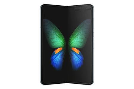 Samsung's new Galaxy Fold smart phone which features the world's first 7.3-inch Infinity Flex Display that works with the next-generation 5G networks