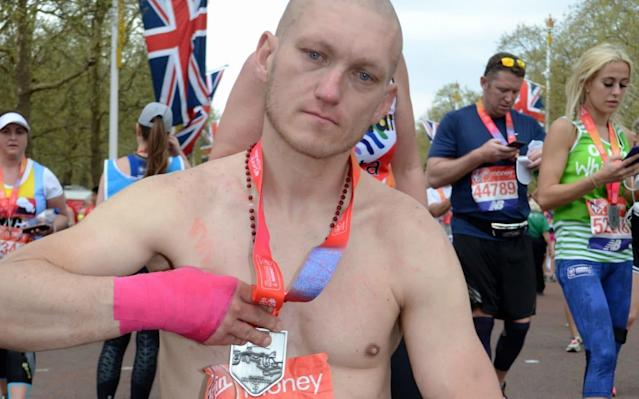 Homeless London Marathon impostor who dedicated 'finishing' race to his son jailed for swiping vest number