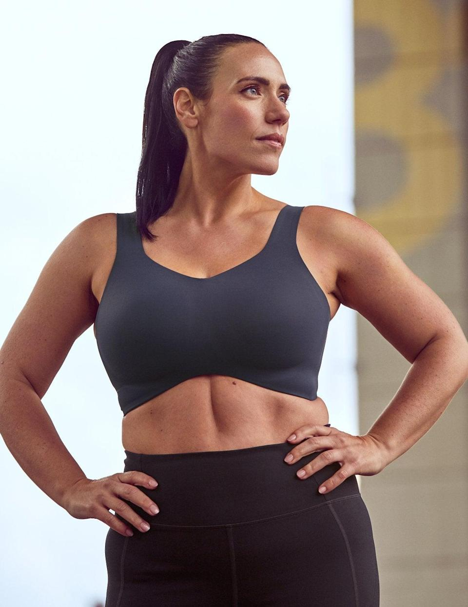 """<h2>Best High-Impact Running Bra <br></h2> <strong>Knix Catalyst Sports Bra<br></strong> <br>I'm a new Knix convert. Though I always used to have to <a href=""""https://www.refinery29.com/en-us/2019/11/8667581/first-nyc-marathon-training-running-gear"""" rel=""""nofollow noopener"""" target=""""_blank"""" data-ylk=""""slk:double-up on sports bras"""" class=""""link rapid-noclick-resp"""">double-up on sports bras</a> to keep by D-cup breasts from bouncing around as I sprint down the pavement, this bra holds up on its own. Its cups are molded to reduce movement, it's ventilated, and the ladder-style straps are easily adjusted. <br><br><strong>Knix</strong> Catalyst Sports Bra, $, available at <a href=""""https://go.skimresources.com/?id=30283X879131&url=https%3A%2F%2Fknix.com%2Fproducts%2Fcatalyst-sports-bra"""" rel=""""nofollow noopener"""" target=""""_blank"""" data-ylk=""""slk:Knix"""" class=""""link rapid-noclick-resp"""">Knix</a><br>"""