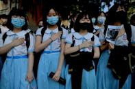 Students protest in Hong Kong (AFP Photo/Mohd RASFAN)