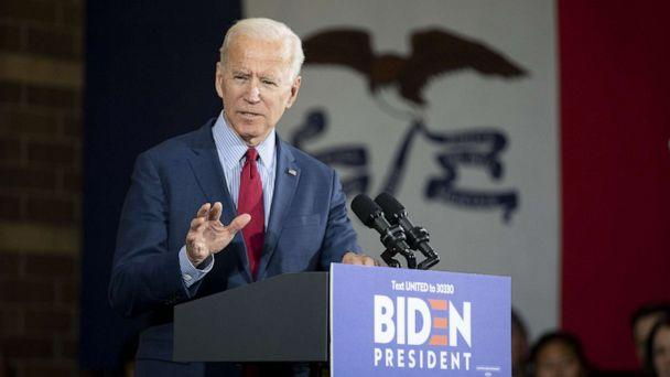 PHOTO: Former U.S. Vice President Joe Biden, 2020 Democratic presidential candidate, speaks during a campaign event in Davenport, Iowa, U.S., on Wednesday, Oct. 16, 2019. (Daniel Acker/Bloomberg via Getty Images)