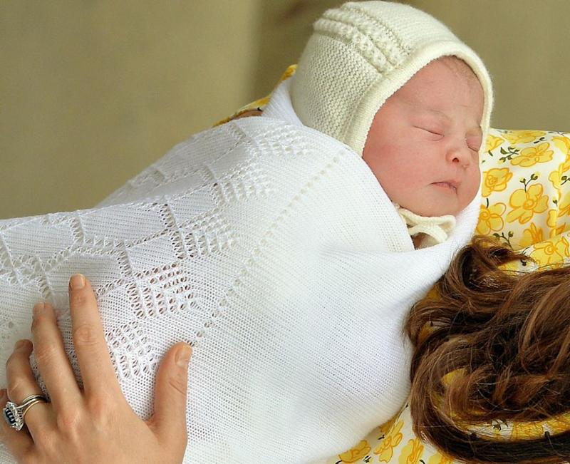 He bears an undeniable resemblance to Princess Charlotte when she was a baby. Photo: Getty Images