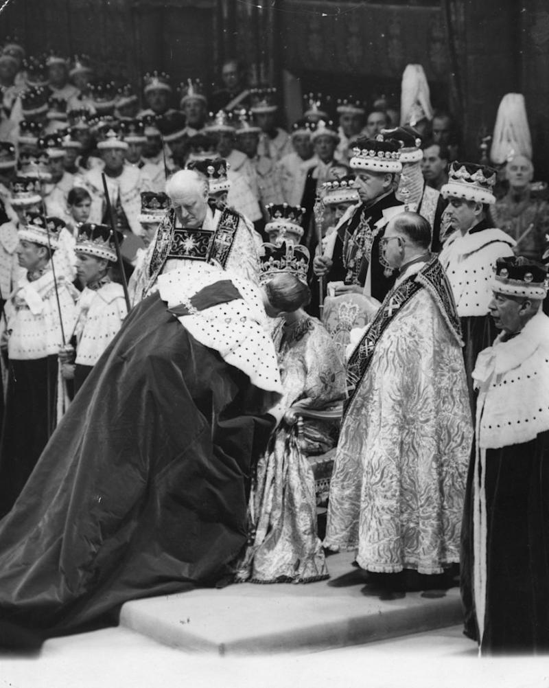 The coronation kiss is said to have infuriated the Queen Mother. Photo: Getty Images