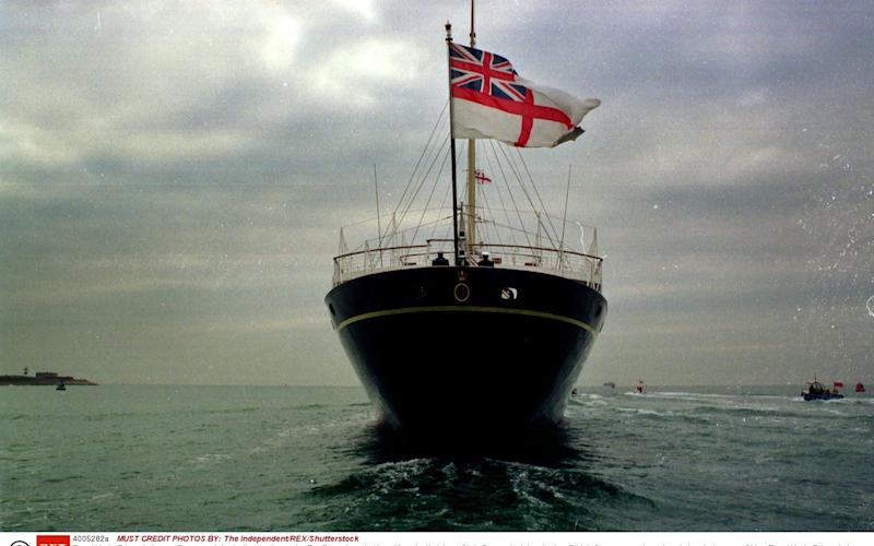 Royal Yacht Britannia leaves Portsmouth for its final cruise to the Far East where in Hong Kong i will pick up Chris Pattern in July - Credit: The Independent/REX/Shutterstock/The Independent/REX/Shutterstock