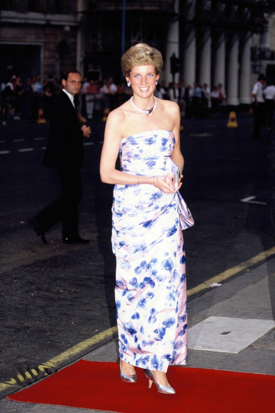 <p>In Catherine Walker again while attending <em>Romeo and Juliet </em>at the Royal Opera House in London. </p>