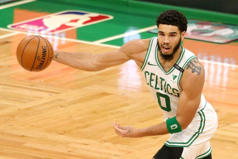 Boston Celtics scoring leader Jayson Tatum was among seven players announced as out for Sunday's game against Miami due to Covid-19 protocols with two others sidelined by injury, leaving the Celtics with a minimum eight players to face the Heat