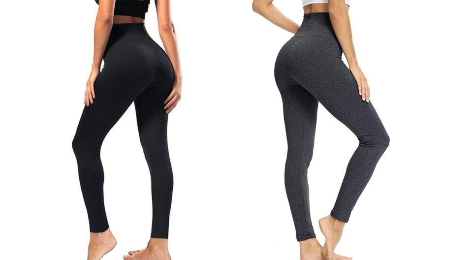 Syrinx High-Waisted Control Leggings make your butt look great. (Photo: Amazon)