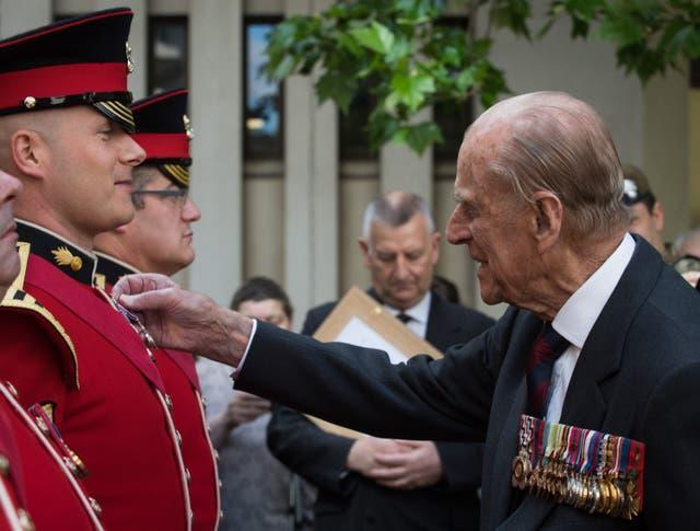 The Duke of Edinburgh was Colonel of the Grenadier Guards for 42 years (Cpl Pete Brown RLC/MoD/PA)
