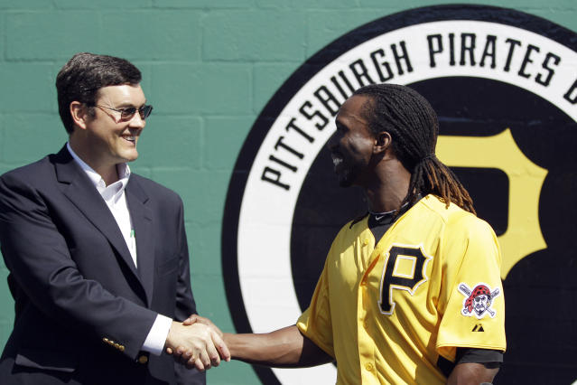 "Bob Nutting is facing ire from fans after dealing <a class=""link rapid-noclick-resp"" href=""/mlb/players/7977/"" data-ylk=""slk:Andrew McCutchen"">Andrew McCutchen</a>. (AP Photo)"