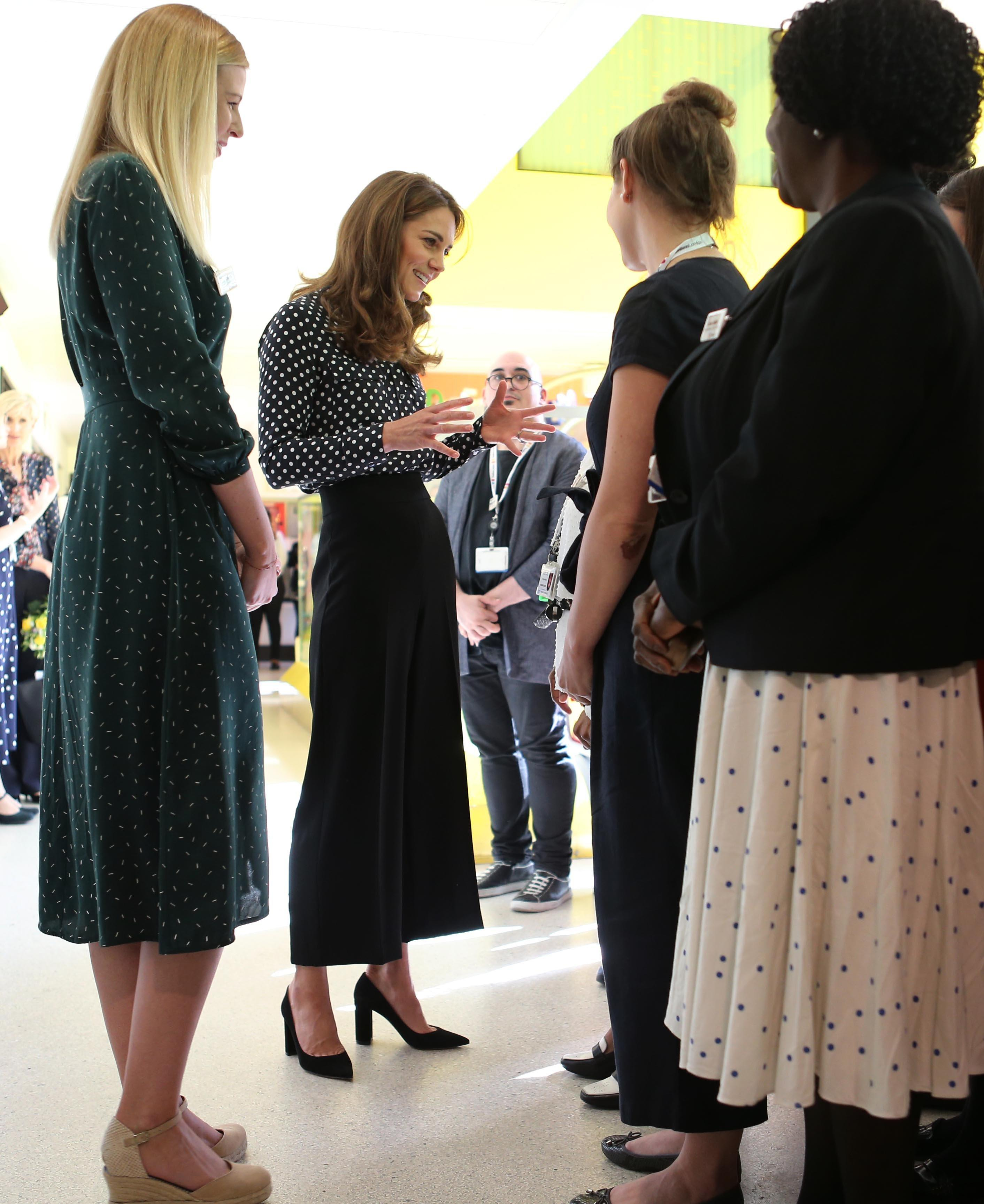 The Duchess of Cambridge meets the Southwark Family Nurse Partnership team during a visit to Sunshine House Children and Young People's Health and Development Centre [Photo: PA]