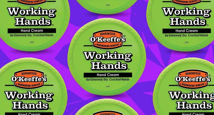 With more than 17,500 reviews, O'Keeffe's Working Hands Hand Cream is the $7 cream is worth a look. (Photo: Yahoo Lifestyle)