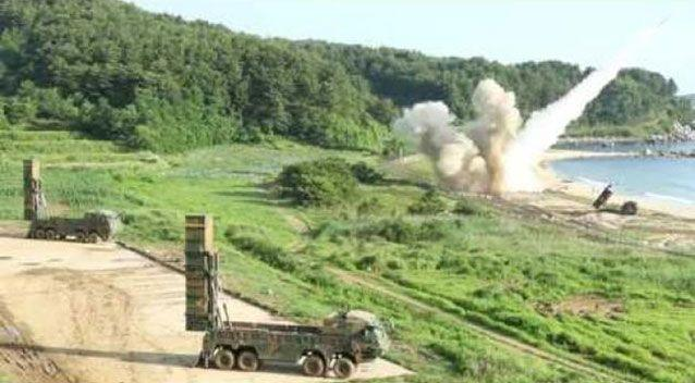 US, South Korea test ballistic missiles after North Korea ICBM launch. Picture: Storyful