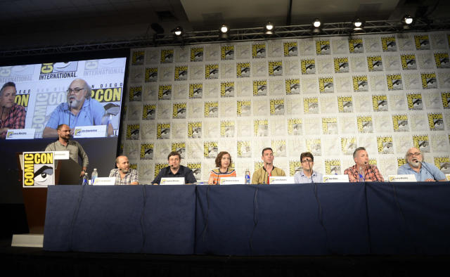 "The cast and executive producers talk to fans during the ""Bob's Burgers"" panel on Friday, July 19 during Fox Fanfare At San Diego Comic-Con 2013."