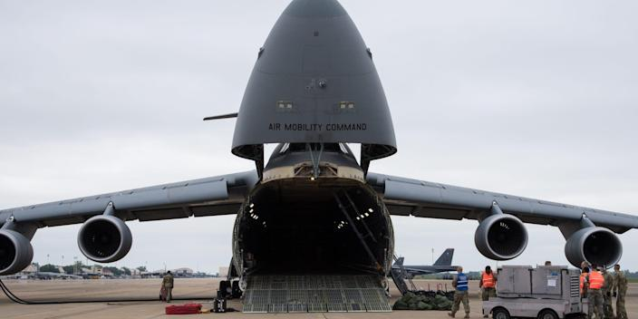 Air Force mobility C-5M Super Galaxy cargo airlifter