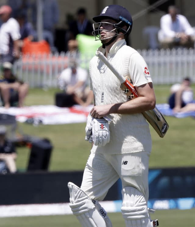 England's Dom Sibley was the only wicket to fall before lunch (Mark Baker/AP)