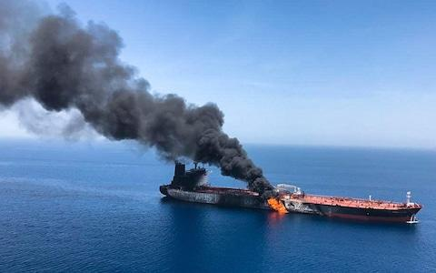 A series of attacks on oil tankers near the Persian Gulf has ratcheted up tensions between the US and Iran - Credit: AP