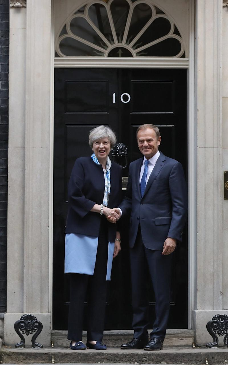 May and tusk - Credit: Getty