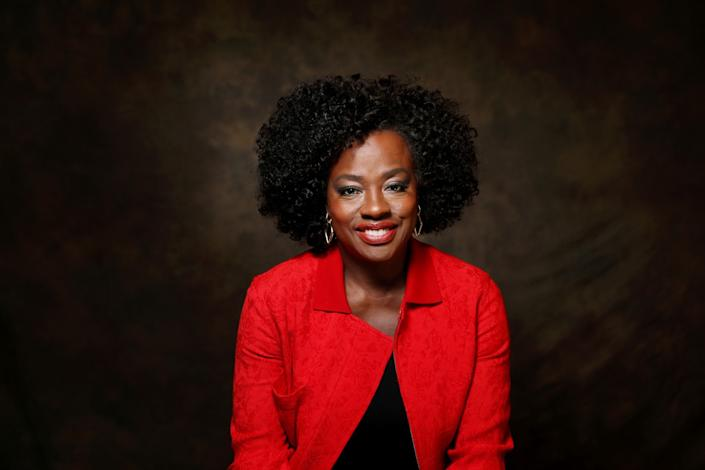 Viola Davis is photographed at the Ahmanson Theatre in Los Angeles.