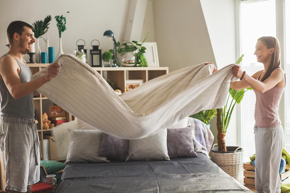 Making your bed can also lead to a better night's sleep. (Getty Images)