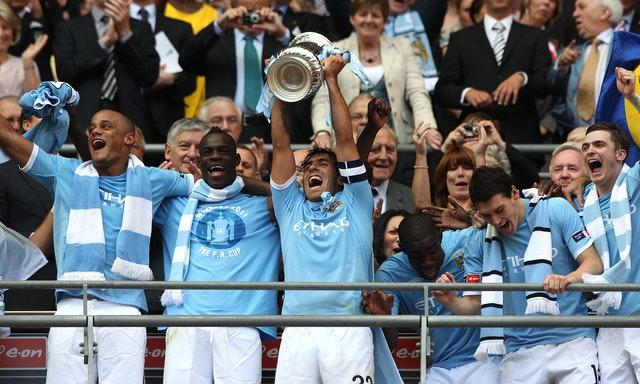 Tevez captained Manchester City to their FA Cup success in 2011