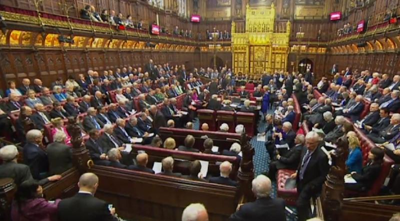 The House of Lords defied Prime Minister Theresa May by demanding guarantees for EU nationals living in Britain, delaying a bill she needs to start Brexit negotiations (AFP Photo/HO)
